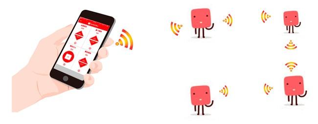 SwitchBot同士が通信を中継